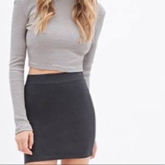 Charlotte Russe Dresses & Skirts - Dark grey bodycon skirt